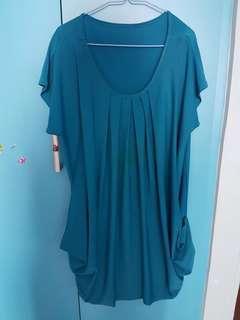 🚚 light blue plus size dress