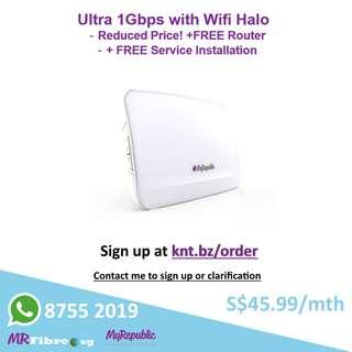 Ultra 1Gbps with Wifi Halo