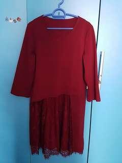 🚚 Melon colour plus size dress