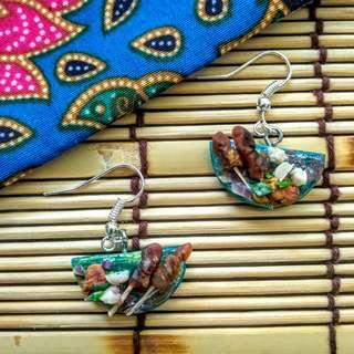 🚚 Handmade Satay & Surf Clay Earrings