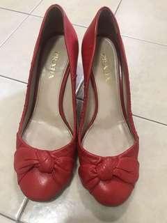 Prada Genuine red heels