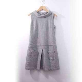 【專櫃品牌】ELLE無袖毛料洋裝L1
