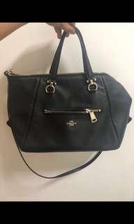 Coach primrose satchel black leather