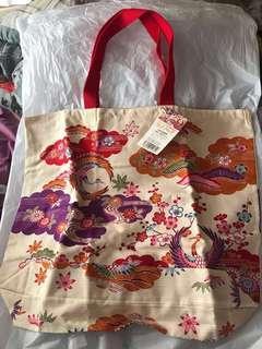 沖繩日本靚染織布袋(全新)