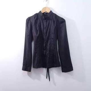 【專櫃品牌】W.Doublewin淑女風黑色襯衫