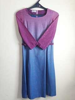 Dress gradasi biru
