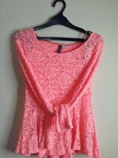 #onlinesale Brokat orange H&M