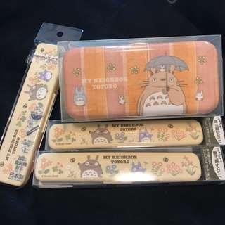 #日本直送 龍貓食物盒、餐具現貨各一,有價錢
