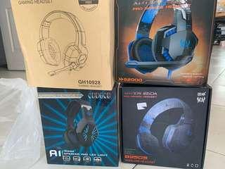 GAMING HEADSET COMBO WITH BLUETOOTH HEADSET