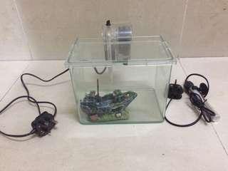 玻璃 魚缸 過濾器 暖管