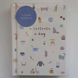 Kikki K Sentence A Day Notebook