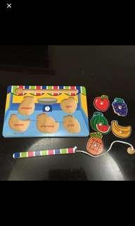 🚚 磁鐵水果學習釣組