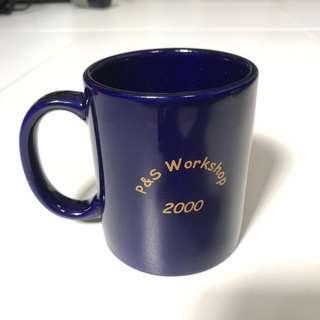 #Blessing Navy Blue Porcelain/Ceramic? Mug