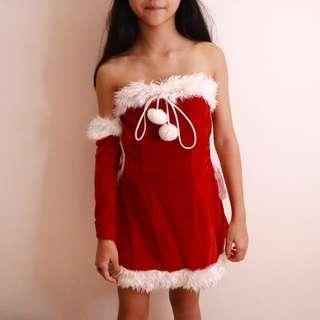 christmas costume with christmas hat