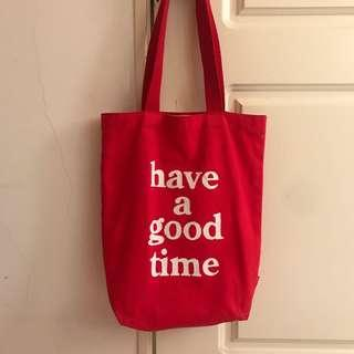 🚚 Have a good time 紅色肩背包 正品