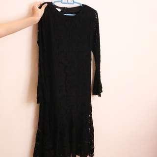black long dinner dress