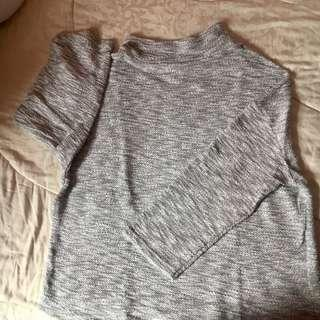 Grey (Abu) Turtelneck Thick Sweater