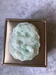 Genuine Grade A Jade Dragon 25X41mm