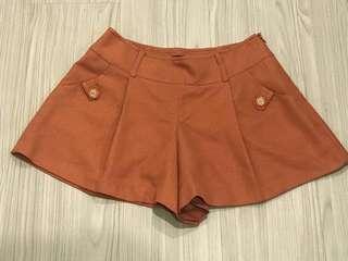 🚚 net橘點點側拉鍊褲裙