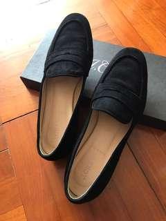 J.Crew💫猄皮黑色休閒平底鞋  US7.5 EU38.5 黑鞋