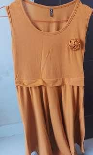 Dress coklat cantik