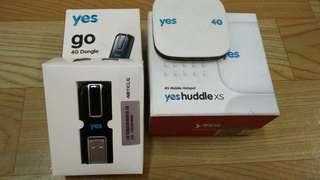 YES Go 4G Dongle & YES Huddle XS