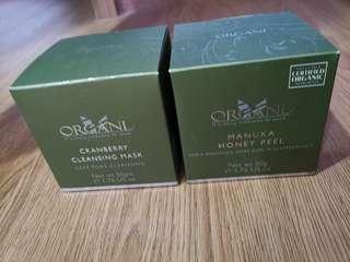 Organi honey peel and cranberry cleansing mask price reduced