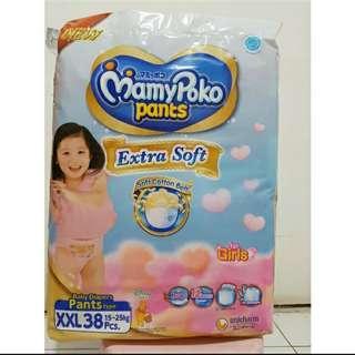 Pampers Mamy poko pant Extra soft XXL 38 Pcs