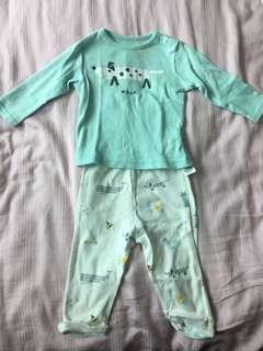 M&S Baby Long Sleeves Top and Pants Set
