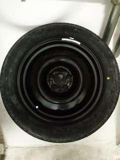 Spare Tyre, 5x100 PCD w Yokohama 205/55/16 tyre
