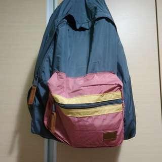 🚚 超低價 可摺疊的 roxy 撞色後背包