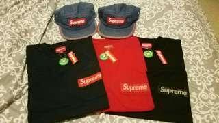 Supreme mesh stripe pocket tee