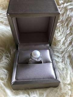 Large Freshwater Pearl Ring 12mm