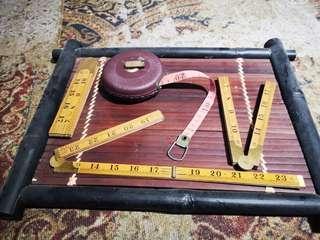 🚚 vintage ruler and measuring tape