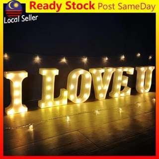 Alphabet LED Letter Light I love U Valentine Lampu Romantic