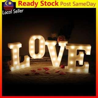 Alphabet LED Letter Light Love Valentine Lampu Romantic