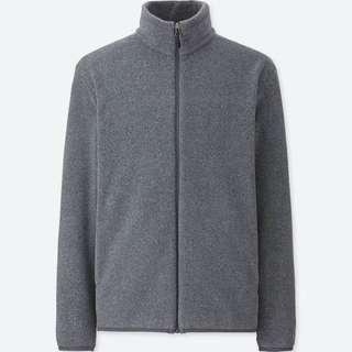 UNIQLO Men Fleece Long Sleeve Full-Zip Jacket