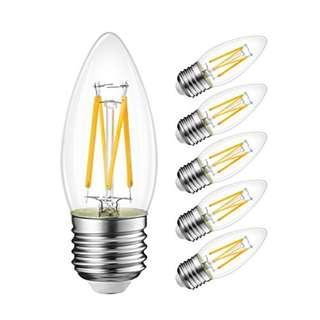 LVWIT 4W LED Filament Bulb E27 6units (YA167)