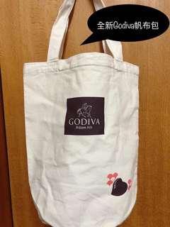 🚚 全新Godiva桶狀帆布包
