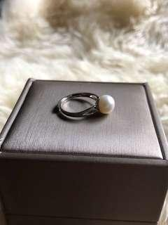 S925 Sterling Silver Freshwater Ring 8mm