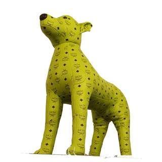 MCM Lime Green Monogram Design Leather Dog 80cm Limited