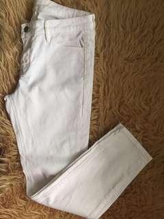 White Uniqlo Crop Pants