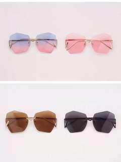 無框五色入漸變防UV太陽眼鏡時尚Sunglasses