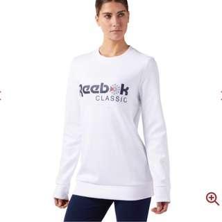 Reebok Classics White Jumper XS