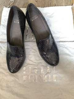 100 % real Stuart Weizman snack skin women shoes 女裝蛇皮鞋