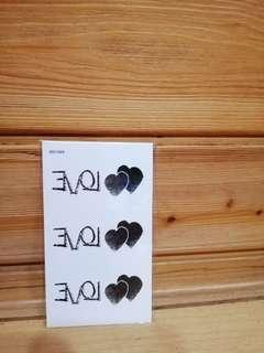 🚚 紋身貼紙-LOVE雙心