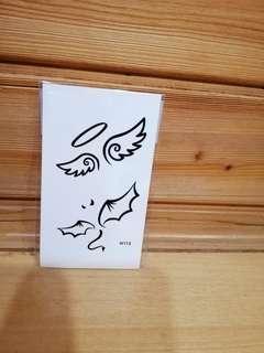 🚚 紋身貼紙-天使與惡魔