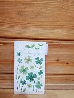 🚚 紋身貼紙-四葉幸運草