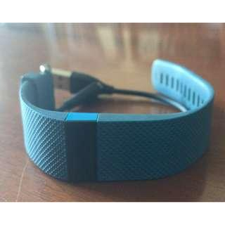 Fitbit Charge HR. Blue Small With Charger. Barely used