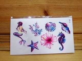 🚚 紋身貼紙-海洋
